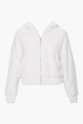 Forever 21 Plus Size Plush Zip-Up Hoodie