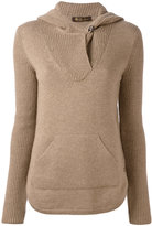 Loro Piana cashmere kangaroo pocket hooded jumper