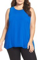 Vince Camuto Plus Size Women's Knit Lined High/low Blouse