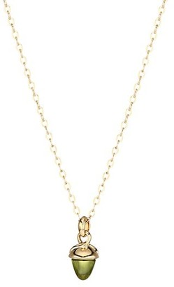 Tamara Comolli My Mikado 18K Yellow Gold & Green Peridot Acorn Pendant Necklace