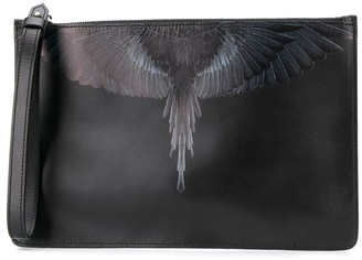 Marcelo Burlon County of Milan Wings-Print Clutch Bag
