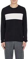 Vince MEN'S STRIPED-FRONT SWEATER