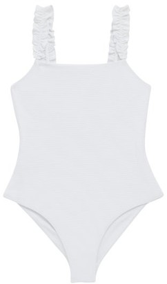 Casa Raki - Isabel Ruffled-strap Swimsuit - White