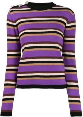 Ganni Slim Fit Striped Jumper
