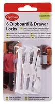 Clippasafe Cupboard & Drawer Locks, Pack of 6, White