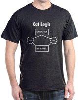 CafePress - Cat Logic T-Shirt - Comfortable Cotton T-Shirt