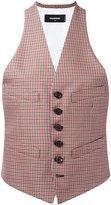 DSQUARED2 checked waistcoat - women - Cotton/Virgin Wool - 40