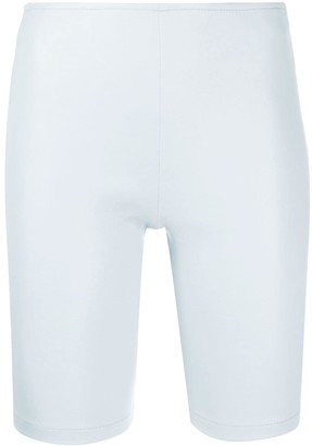 Manokhi Zip-Up Biker Shorts