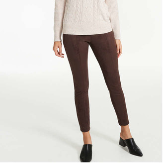 Joe Fresh Women's Faux Suede Legging, Dark Brown (Size M)