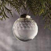 "Crate & Barrel Alexandra Clear 2"" Glass Ball Ornament"