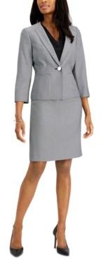 Le Suit Petite Jacquard Skirt Suit