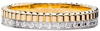 Boucheron Quatre Radiant Edition 18K Yellow & White Gold & Diamond Wedding Band Ring