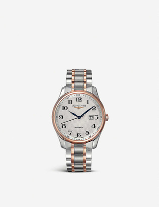 Longines L2.893.5.79.7 Master Collection 18ct rose gold-plated stainless steel watch