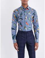 Paul Smith Tailored-fit bird-print cotton shirt