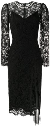 Ermanno Scervino Embellished Asymmetric Embroidered Dress