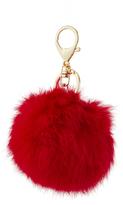 The House of Perna Pompom Fur Keychain