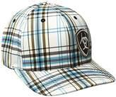 Ariat Men's Blue Plad Corner Logo Hat
