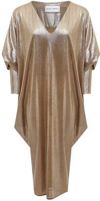 Riona Treacy Metallic Ghost Dress Silver