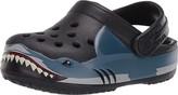 Crocs Fun Lab Shark Band Clog (Toddler/Little Kid) (Black) Boy's Shoes