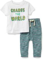 Old Navy 2-Piece Graphic Tee and Leggings Set for Baby