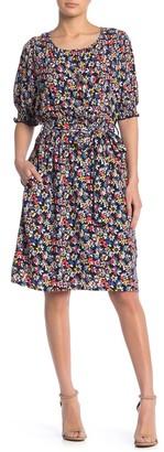 MelloDay Short Sleeve Floral Print Dress
