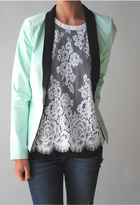 Bardot Tailored Mint Blazer