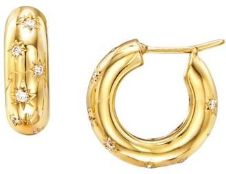 Temple St. Clair Celestial 18K Yellow Gold & Diamond Cosmos Hoop Earrings