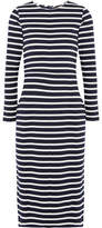J.Crew Chloe Striped Cotton-jersey Dress - Navy