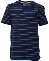 Ben Sherman Boys Pique Stripe T-Shirt Blue Depths