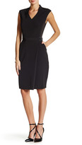 Alexia Admor V-Neck Waist Belt Dress