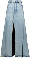 Alexander Wang Split denim maxi skirt