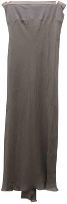 Rick Owens Khaki Silk Skirt for Women