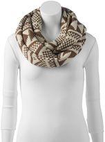 Woolrich Geometric Crochet Infinity Scarf