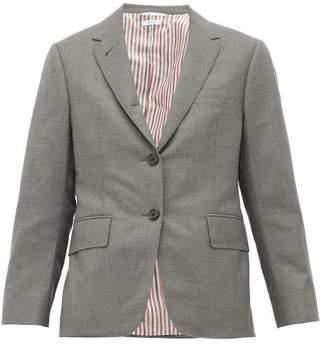 Thom Browne Single-breasted Short Wool Blazer - Womens - Grey