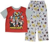 Mine craft Minecraft Boy's Grey 2 Piece Short Sleeve Pajama Set (Small 6/7)