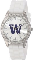 Game Time Women's COL-FRO-WAS Frost College Series Collegiate 3-Hand Analog Watch
