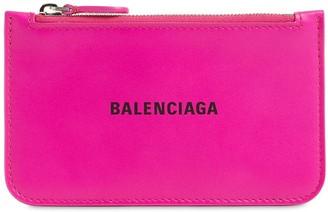 Balenciaga Leather Zip Card Holder