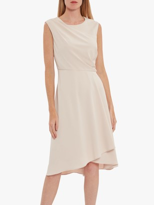 Gina Bacconi Avalina Wrap Midi Dress, Antique Rose