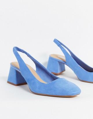 Stradivarius slingback in blue