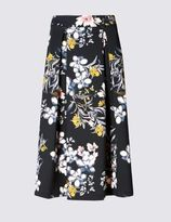 Marks and Spencer Floral Print A-Line Skirt