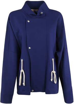 Plan C Drawstring Waist High-neck Jacket