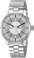 Fortis Men's 623.10.37 M Spacematic Classic White Analog Display Automatic Self Wind Silver Watch
