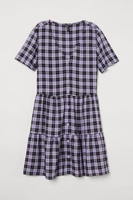H&M V-neck Dress - Purple