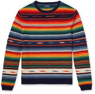 Polo Ralph Lauren Striped Cotton And Linen-Blend Sweater