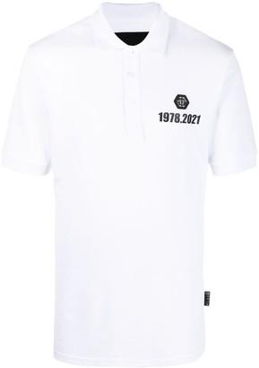 Philipp Plein Logo-Patch Cotton Polo Shirt