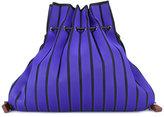 Issey Miyake striped sack backpack