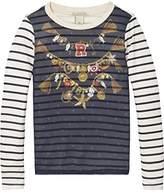 Scotch & Soda R'Belle Girl's Woven Photo Bedruckt T-Shirt
