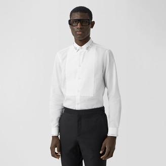 Burberry Slim Fit Embellished Cotton Poplin Shirt