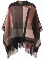 Etro checked cape - women - Nylon/Polyamide/Viscose/Wool - 42