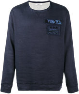 Valentino embellished military patch sweatshirt - men - Cotton/Linen/Flax/Spandex/Elastane - S